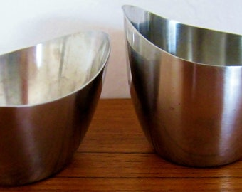 Danish modern stainless steel cream and sugar Denmark