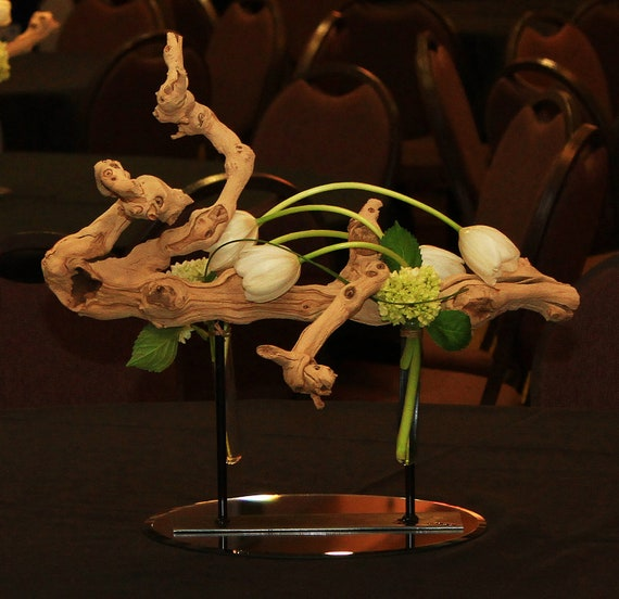 Items similar to grape wood branch stand and centerpiece