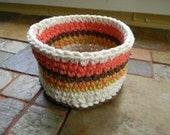 Crochet Cotton Bowl-Medium