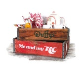 Vintage Soda Crate RC Cola Crate Mid Century