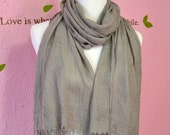 Holiday sale - Buy one get one half off - grey scarf, soft scarf, 100% vicose