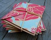 Pink Poppy Handmade Textured Stationery Card Set