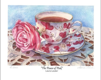 The Power Of Pink Teacup 5x7 Fine Art Print