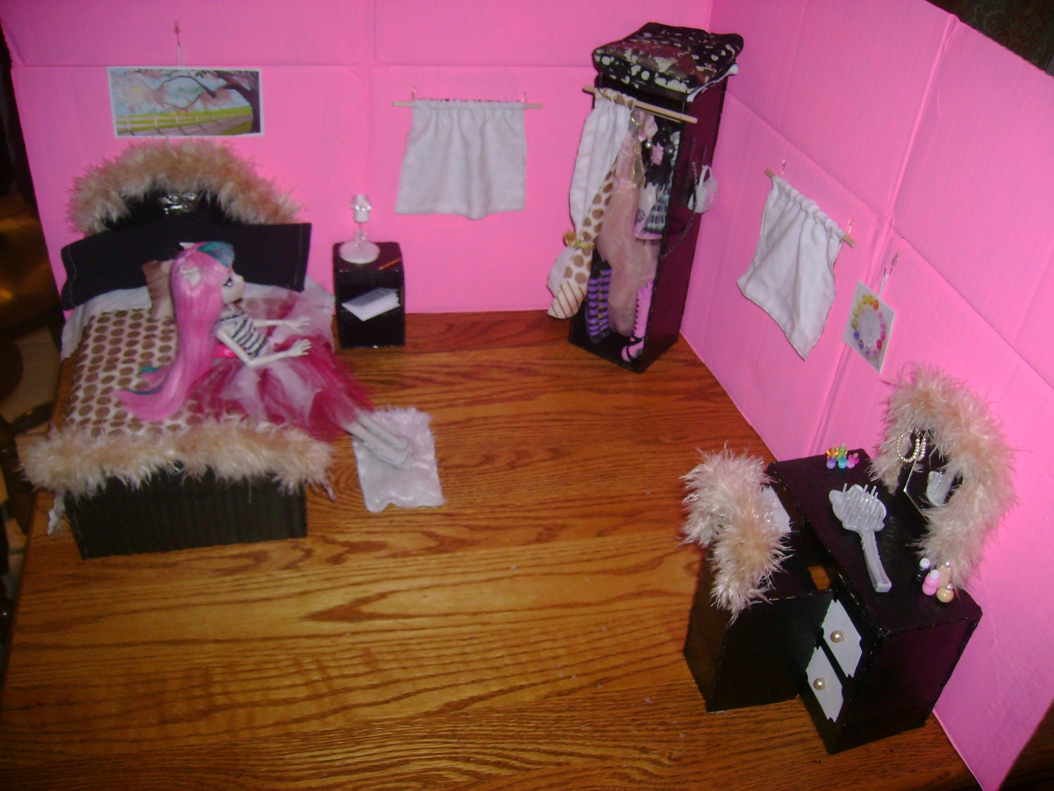 monster high doll bedroom play set by princesssilva on etsy