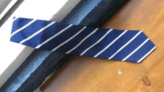 Ravenclaw Brooks Brother's Tie - Blue and Silver - Grey - Shortened