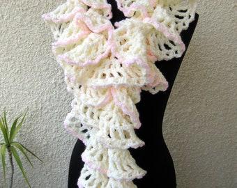 Crochet Scarf PATTERN-Chunky Crochet Ruffle Scarf-Winter Honeymoon-Fast Easy DIY Gift-Instant Download Pdf Pattern No.47 by Lyubava Crochet