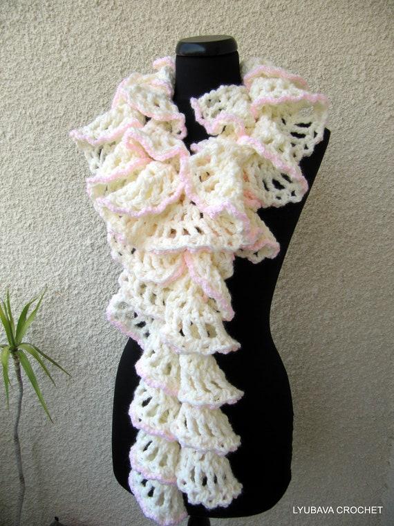 Crochet Scarf PATTERN-Chunky Crochet Ruffle Scarf-Winter