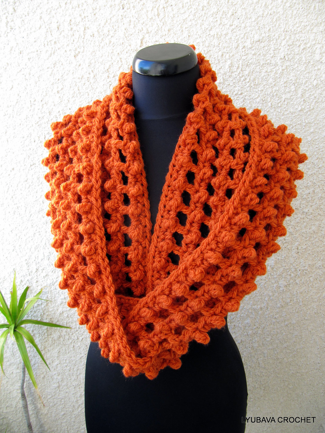 Crocheting Scarves : CROCHET PATTERN Chunky Scarf Circle Infinity by LyubavaCrochet