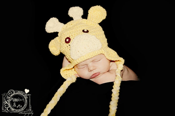 Crochet Giraffe Hat for Boys - Various Sizes Available