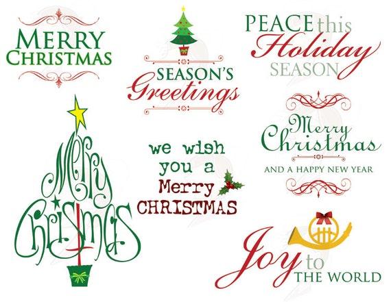 Items similar to Christmas Clip Art Clipart Invitation ...