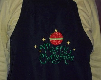 Holiday Merry Christmas Apron