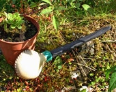 Bog Oak and Cow Hide Shamanic Rattle