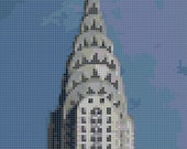 Chrysler Building Cross Stitch - Art Deco, New York, Architecture