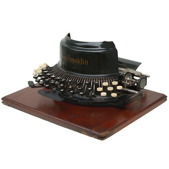 Antique c.1897 New Franklin Downstroke Typewriter