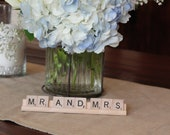 Mr and Mrs Scrabble tile sign