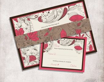Wedding Invitation Modern and simple / FILE ONLY