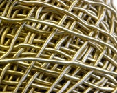 "Vintage 1940's-1950's  1/16"" Silk Necklace Cording Sewing Beading Trim Lustrous Rich Gold Color"