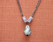 SALE! Teardrop agate necklace