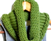 Grass Green Handwoven Infinity Scarf
