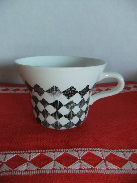 SALE Vintage Swedish Coffee cup Red Top by Rorstrand Design Marianne Westman