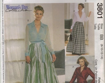 McCall's Sewing Pattern 3801 - Misses' Top, Pants, and Skirt in Two Lengths (8-14, 16-22)