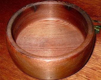 vintage reclaimed redwood bowl hand turned