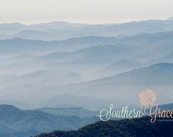 Mountain Vista - Clingmans Dome Photo - Smoky Mountain Photography - 8x10 Photo Ready to Frame