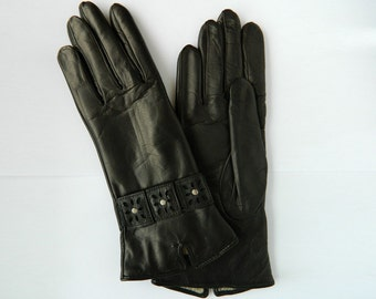 Women's leather gloves (9120). Different Sizes.