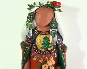 Earth Mother Native American Indian doll  collectible signed OOAK fantasy spiritual art doll
