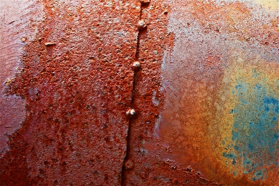 Abstract Fine Art Photography Automotive Rust Red Orange, Party Shirt 8x12