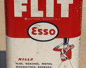 Early Vintage rare Set of 2 1940s Esso Oil Flit Insecticide and Esso Radiator Stop Leak Never Opened Full