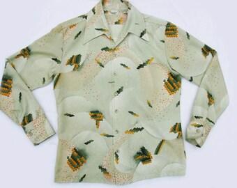 Vintage 70s Wild & Crazy Guy Men's Print Shirt