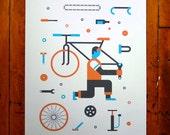 Art Crank Bike Print - Poster