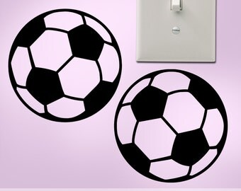 Soccer Mom Gift for Girls or Boys:  20 Soccer Ball Decals for Cars, Walls, Laptops, Lockers, Notebooks, Vinyl Wall Decals (177a4v)