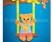 Children's Art, Nursery Art, Kids Decor, Nursery Wall Art, Bear on a Swing