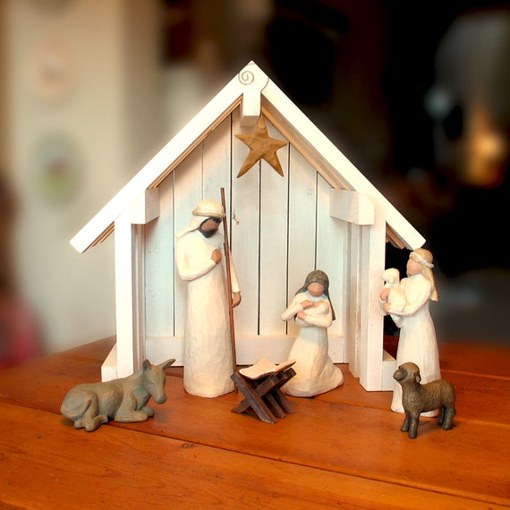 Nativity Creche Stable for Willow Tree