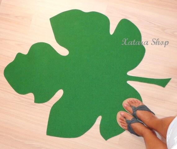 Modern rug. Fig leaf silhouette doormat. Personalized