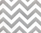 Gray and White Chevron Zig Zag Cotton Fabric 10 yards...More Yardage Available