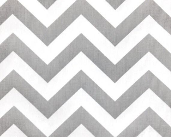 Gray and White Chevron Zig Zag Cotton Fabric 10 yards...More Yardage Available