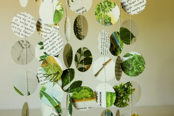 Paper garlands nature themed party decorations nature book for Arland decoration