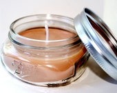 Campfire Mason Jar Candle Campfire Warm Earthy Woodsy Firepside Scent Ball Jar Soy Natural Candles