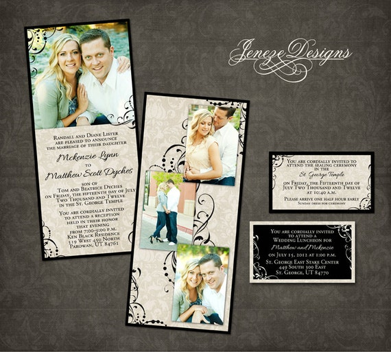 Wedding Invitation Template Photographers And Photoshop