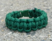 dark green paracord bracelet   custom sizes available