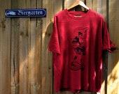 Hemp T Shirt. Sexy Lola Montez. Screen Printed. Red Men's Size  XXL.