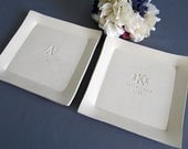 Set of Personalized Platters - Parent Wedding Gifts - Gift boxed