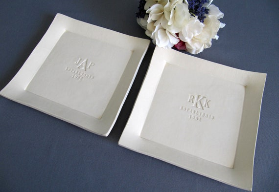 Parent Wedding GiftSet of Personalized PlattersGift boxed