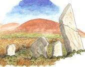 Ardrah Stone Row/Adrátha Sraith Ghallán, Card Print
