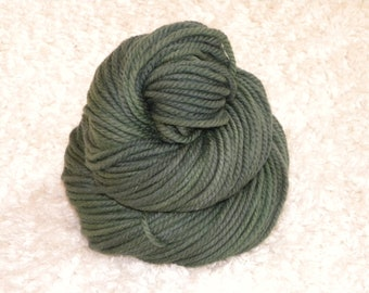 Hand Dyed yarn, Bulky Weight, 100% Superwash Merino Wool, 120 yards/100g- 'Sherwood Forest'