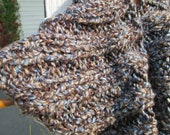 Autumn Sky Cowl in Brown, Blue, and Cream