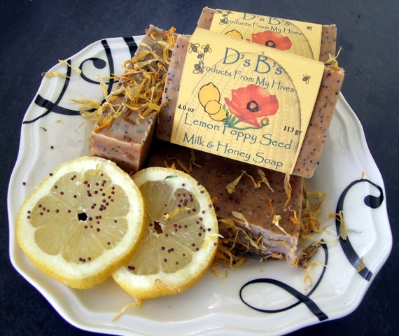 Lemon Poppy Seed - Milk & Honey Soap - moisturizing